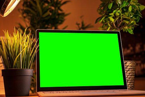 Laptop, Computer, Greenscreen, Notebook, Office