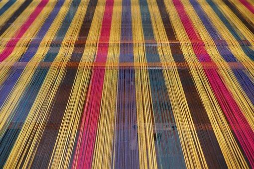 Weaving Mill, Weft Threads, Loom