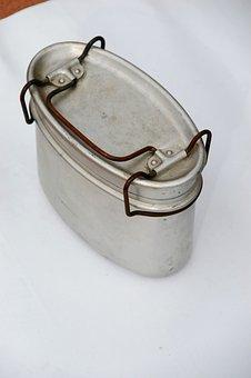Lunchbox, Aluminium, Container, Kitchen, Metal, Retro