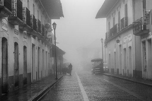 Mist, Hidalgo, Mineral Del Monte, Colonial, Street