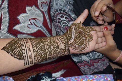 Mehandi, Henna, Tatoo, Hand, Solitude, Nature, Sitting