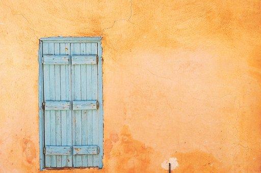 Okiennica, Window, Shutters, Old, Closed, Wood, Orange