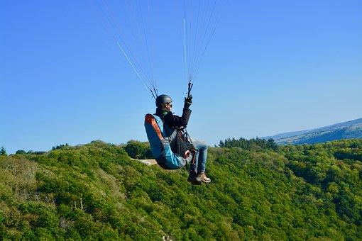 Paragliding, Paraglider, Fifth Wheel, Seat Paraglider