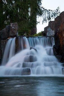 Imatra, Finnish, Water, Flow, Waterfall, Fountain, Park