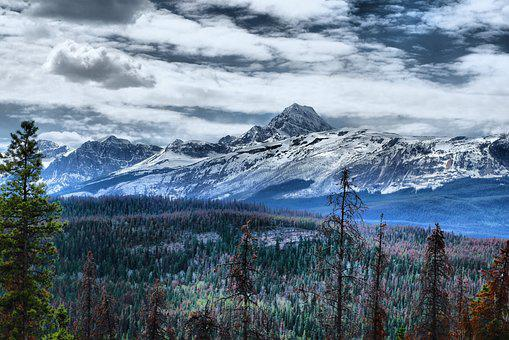Mountain, Rockies, C, Landscape, Nature, Scenic