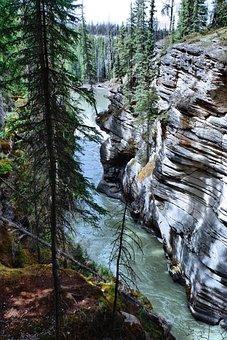 Waterfall, Rockies, Canada, Banff, Nature, Landscape