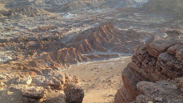 Valle De La Luna, Chile, Atacama Desert, Desert, Rocks