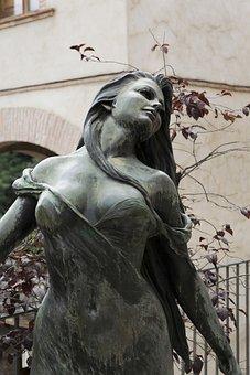 Figure, Statue, Sculpture, Autumn, Expression, Pose