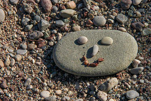 Face, Stone Face, Stones, Pebble, Beach, Stone Figure