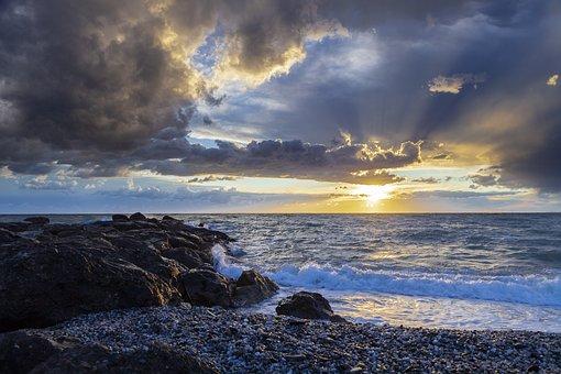 Beach, Sun, Sunset, Landscape Mediterraneo