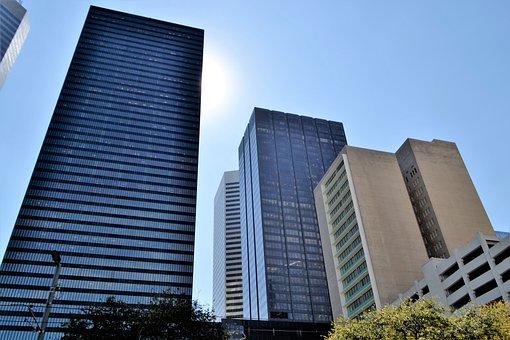 Business District, Skyline, Houston, Texas, Workplace