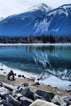Lake, Water, Nature, Rock, Alberta, Banff, Travel