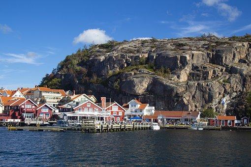 Sweden, West Coast, Sea, Summer, Cliffs, Salt Water