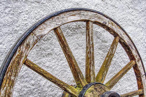 Wagon Wheel, Old, Wheel, Wood, Wooden Wheel, Coach