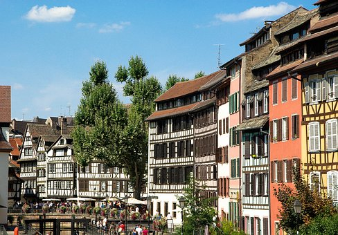Alsace, Strasbourg, Timbered Houses, Lock, Architecture