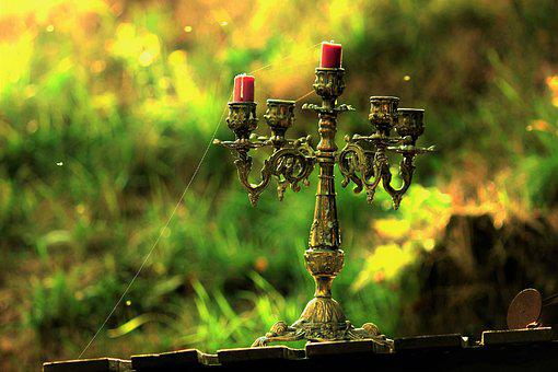 Candle Holders, Cobweb, Old, Outdoor, Mystical, Antique
