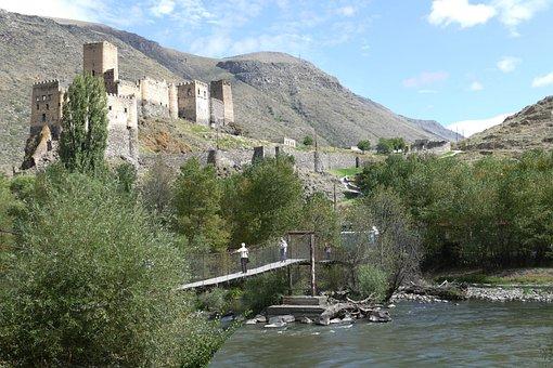 Georgia, Asia, Caucasus, Landscape, Tourism, Panorama