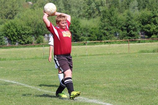 Football, Autové Throw-in, Footballer, Ball, Aut