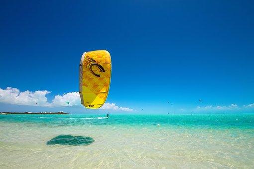 Ocean, Beach, Kite Surf, Water, Sea