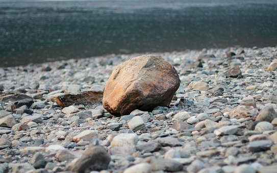 Stone, Beach, Water, Stones, Blue, Outdoors, Pebbles