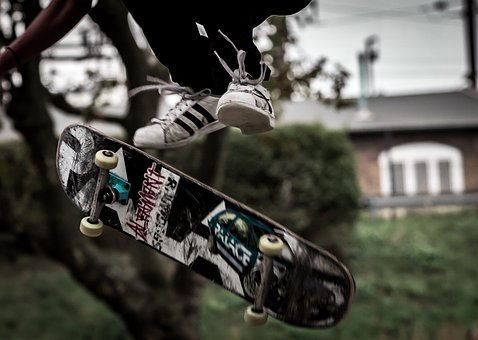 Skate, Board, Basketball, Boy, Jump, Hobbies, Youth