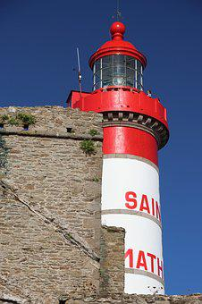 Lighthouse, St Mathieu, Finisterre, Brittany, France