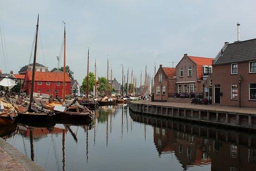 Spakenburg, Fishing Village, Port, Fisheries, Houses