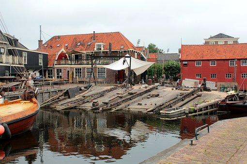 Spakenburg, Fishing Village, Historical, Botenwerf