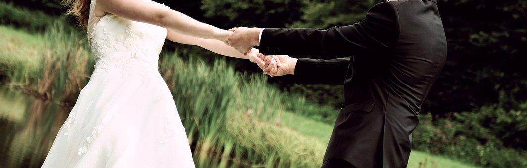 Bride And Groom, Bride, Groom, Together, Dance, Wedding