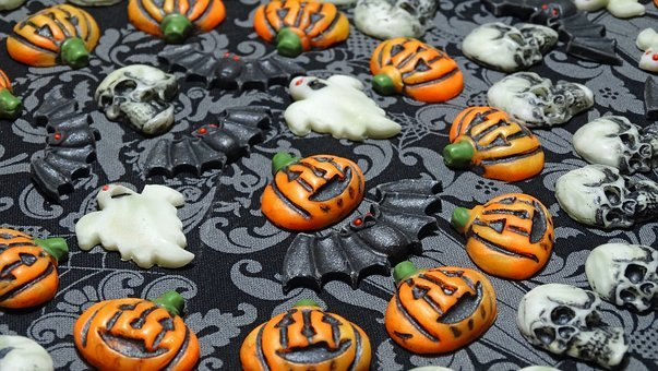 Art Soap Design Elements, Black, Orange, Halloween