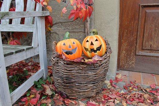 Halloween, Pumpkin, Autumn, Decoration, Orange, Harvest