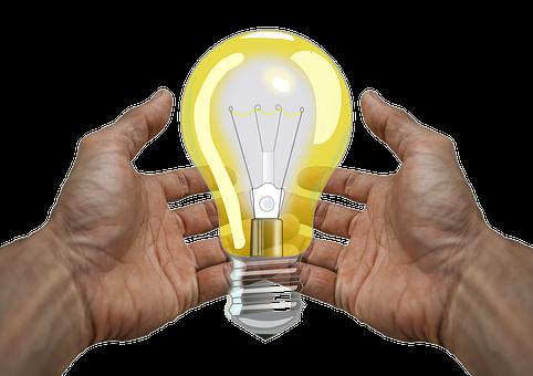 Hands, Light Bulb, Energy, Inspiration, Light, Lamp