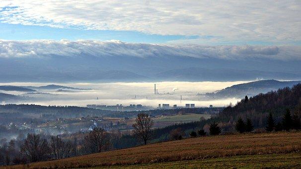 The Fog, Landscape, Haze, Panorama, Deer Mountain