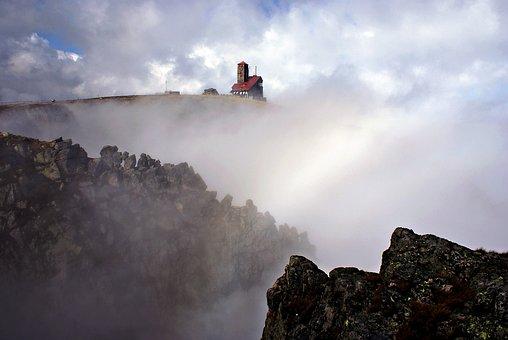 Krkonoše Giant Mountains, The Fog, Landscape, Nature