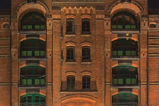 Speicherstadt, Memory, Hamburg, Port, Brick, Facade