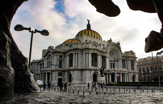Torre Latino, Mexico City, Mexico, Architecture, Blue