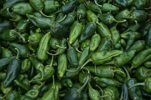 Peppers, Vegetable, Green, Fresh, Pepperoni, Pimento