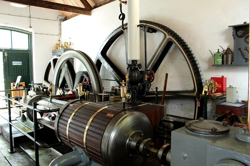 Pumping Station De, Antique, Workshop, Old, Pump