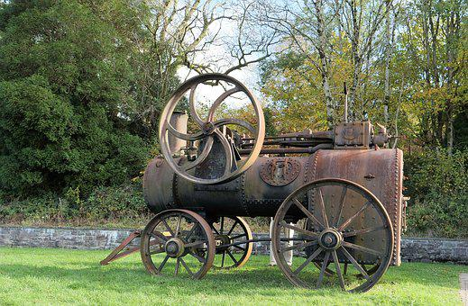 Old Steam Engine, Railway, Engine, Old, Train, Rail