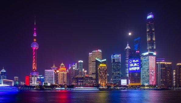 Shanghai, Cityscape, Sky, Skyscrapers, Architecture