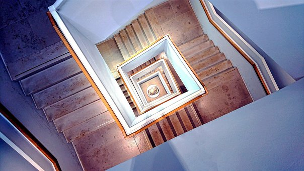 Architecture, Staircase, Stairs, Gradually, Turn
