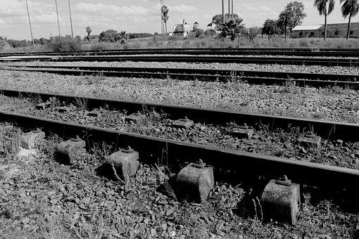 Engineering, Rails, Train, Steel, Metal, Station