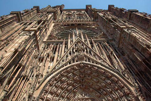 Strasbourg, Cathedral, Gothic, Sculptures, Religion