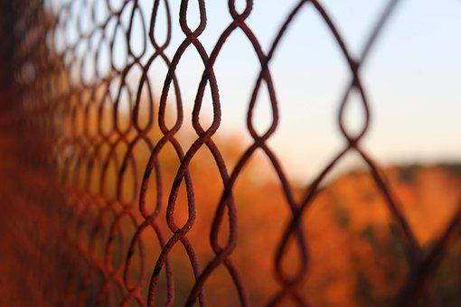 Fence, Metal, Thread, Rust