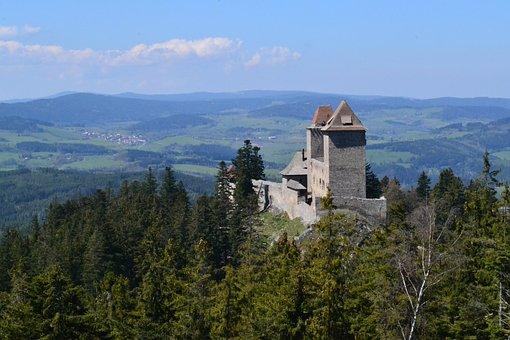 Kašperk, Castles, View, Czech Republic