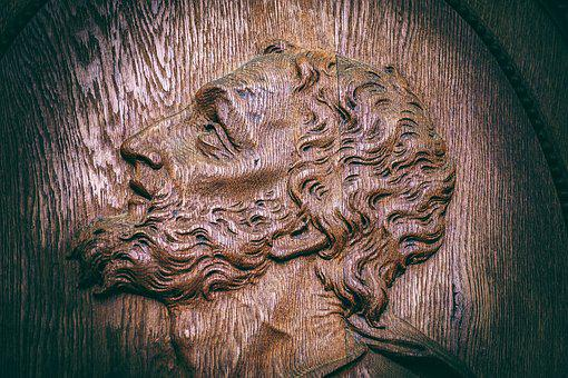 Jesus, Wood, Face, Wood Carving, Wooden Structure, Old