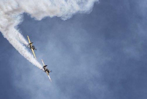 Plane, Air Show, Sky, Aircraft, Aviation, Stunts