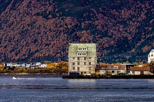 Fjord, Ruin, House, Break Up, Dilapidated, Shabby