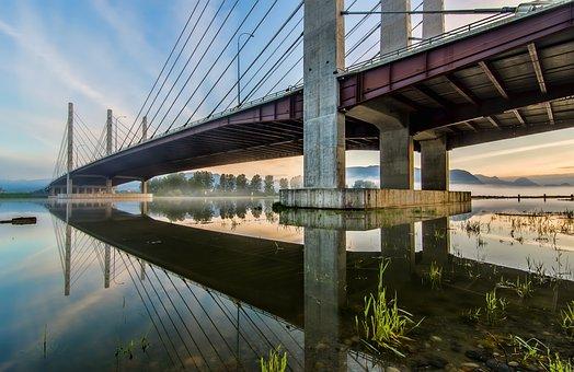 Bridge, British Columbia, Grass, Nobody, Outdoor