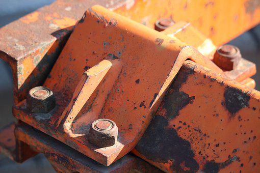 Metal, Connection, Metal Profiles, Screw, Rust, Orange